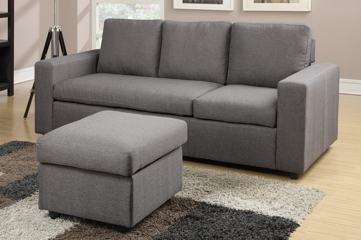 mini sectional leather sofa bed vancouver sofas polaris contemporary grey bonded