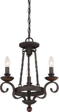 Quoizel NBE5303RK Noble Traditional Rustic Black Mini ...