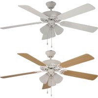 Trans Globe F-1005-WH White Ceiling Fan Light Fixture ...