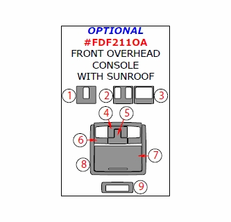 2011 Ford F-250 F-550 Super Duty Optional Front Overhead
