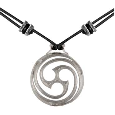 Goddess Spiral Necklace by Oberon Design: FairyGlen.com