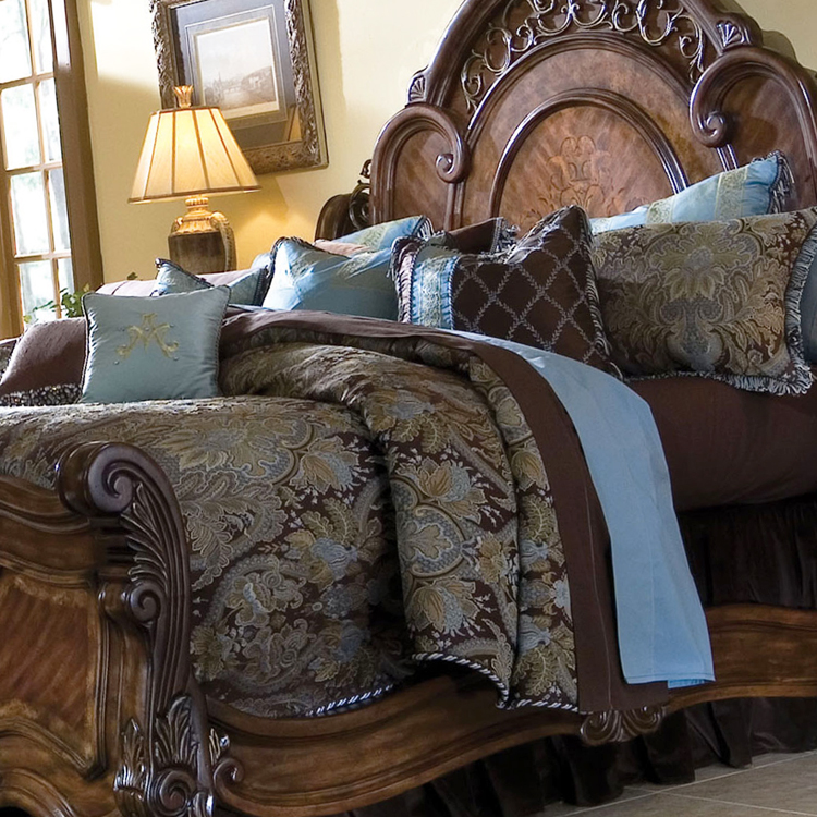 accent chairs for sale best baby height portofino bedding collection, michael amini bedding, aico - luxury