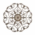 29 quot round 3d strasbourg iron wall plaque wrought iron wall decor
