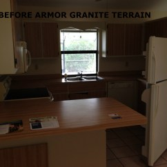 Kitchen Countertop Refinishing Games For Adults Epoxy Kits Armor Garage
