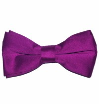Solid Dark Hot Pink Bow Tie (BT10