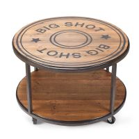 (DM3005030125) Big Shot Round Coffee Table with Wheels