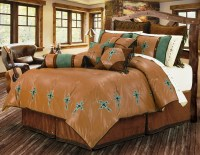 (HXWS4183Q) ''Las Cruces'' Western Turquoise Cross Bedding ...