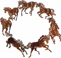 (LZCH20WHP) 20'' ''Circle of Horses'' Western Metal Art