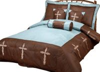 (RWBA9094-SQ) ''Turquoise Cross'' Western 7-Piece Bedding ...