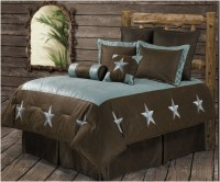 (RWBA9183-SQ) ''Turquoise Star'' Western 6-Piece Bedding ...