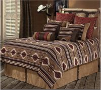 (RWBA9184-SQ) ''Navaho'' Western 7-Piece Bedding Set ...