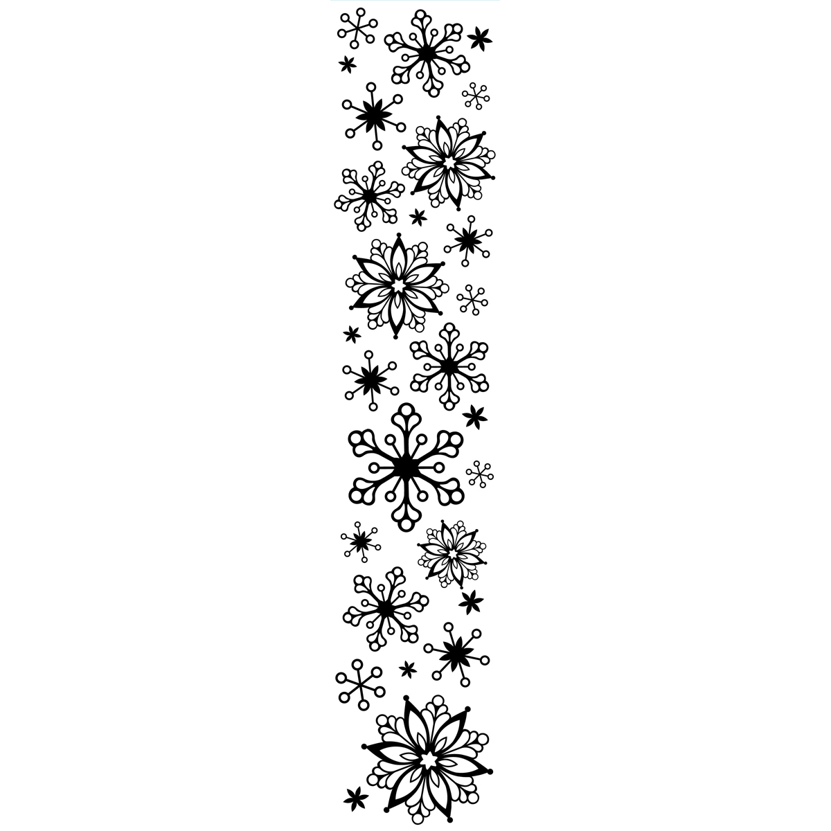 Snowflake Border Clip Art Black And White Pictures To Pin
