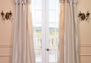 White Silk Curtains