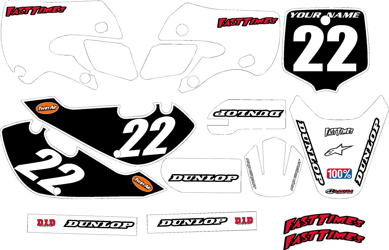 Klx 110 Graphics Kit White Clean Series By Fast Times