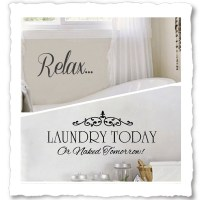 Vinyl Wall Quotes for Bathroom, Laundry Room Wall Decals