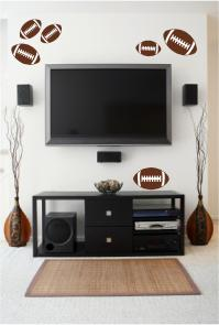 Football Wall Decals, Vinyl Wall Art, Sports Quotes