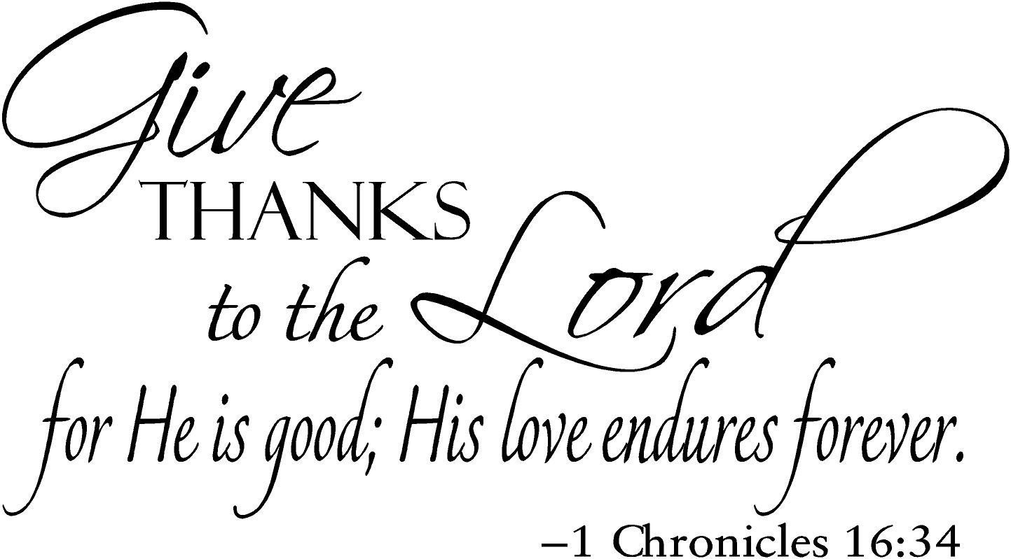 Give Thanks Unto The Lord O