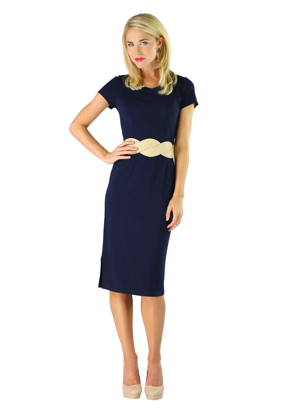 Modest Dresses Sara in Navy Blue