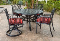 Manhattan By Gensun Luxury Cast Aluminum Patio Furniture 4 ...