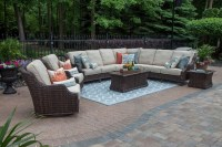Mila Collection 9-Piece All Weather Wicker Patio Furniture ...