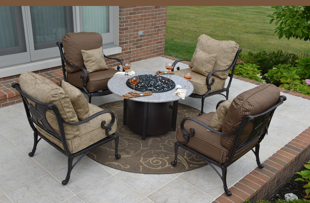 Patio Furniture Sets With Gas Fire Pit Pictures To Pin On