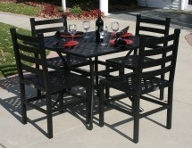 Square Cast Aluminum Patio Dining Table