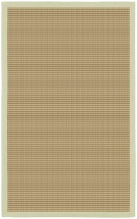 Bay Sisal Rug with Green Border by Chandra Rugs ...