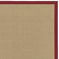 Bay Sisal Rug with Red Border by Chandra Rugs ...