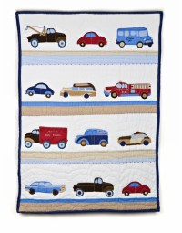 Cars and Truck Crib Bedding Set by Whistle & Wink