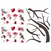 Cherry Blossom Branch Wall Decals - RosenberryRooms.com