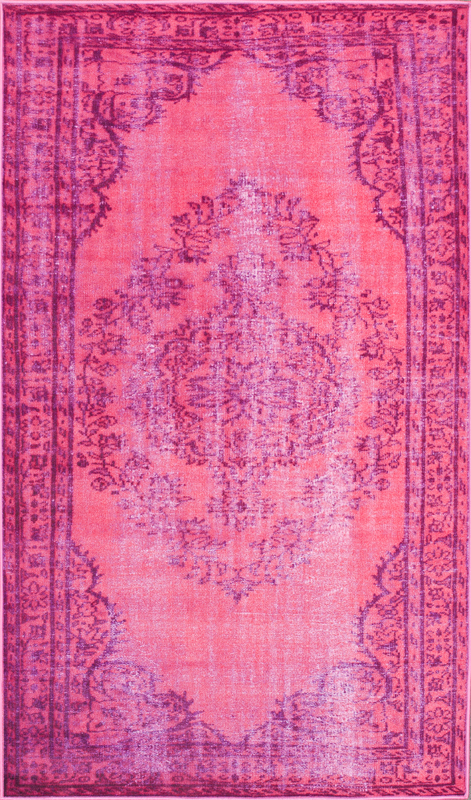 Chroma Overdyed Rug in Pink