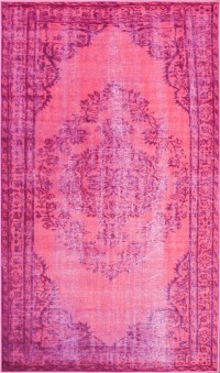 Chroma Overdyed Rug in Pink - RosenberryRooms.com