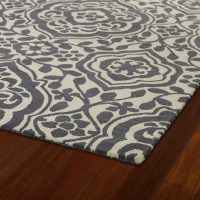 Evolution Mod Floral Rug in Grey - RosenberryRooms.com