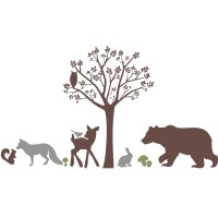 Forest Critters Wall Decal by Alphabet Garden Designs