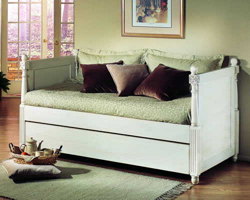 French Twin Day Bed With Pop Up Trundle By Alligator