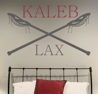 Lacrosse Personalized Wall Decal by Alphabet Garden Designs