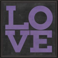 Love Poster in Purple Framed Wall Art by Spicher and Company