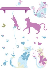 Patterned Pets Wall Decals - RosenberryRooms.com