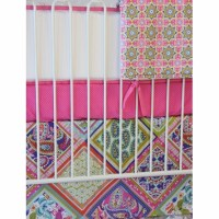 Pink Paisley Patch Crib Bedding Set by Caden Lane