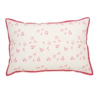 Pretty with Pink Quilted Pillow Sham by Little Auggie
