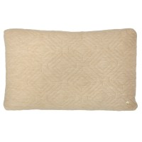 Rectangle Quilt Cushion Throw Pillow in Camel by ferm LIVING
