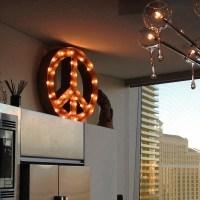 Rusty 24 Inch Peace Sign Marquee Light by Vintage Marquee ...