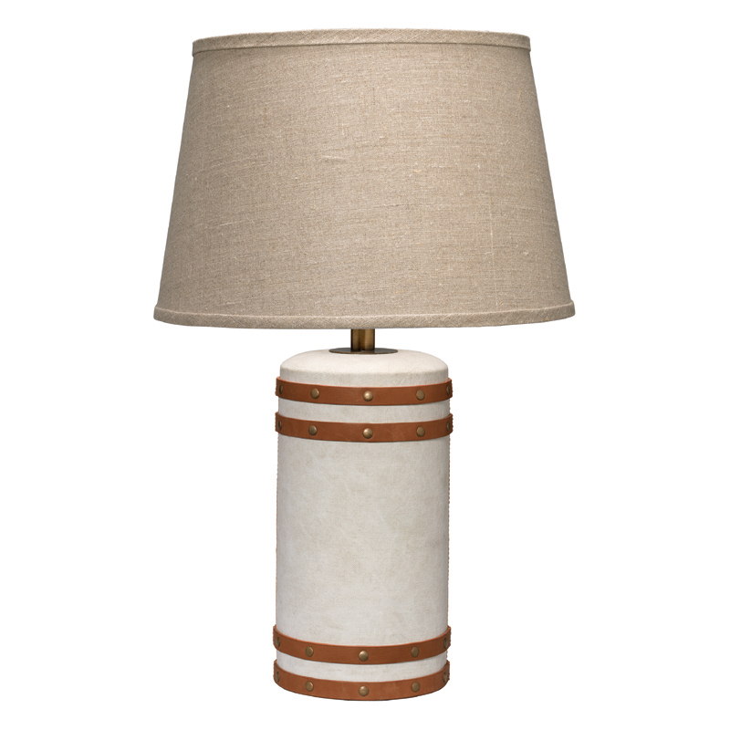 Vintage Canvas Small Barrel Table Lamp by Jamie Young