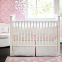 White Pique Crib Bedding in Pink by New Arrivals Inc.