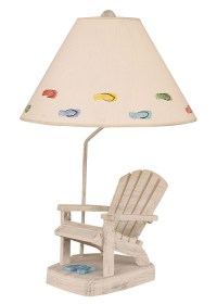 Adirondack Chair Lamp with Blue Flip Flops for Sale