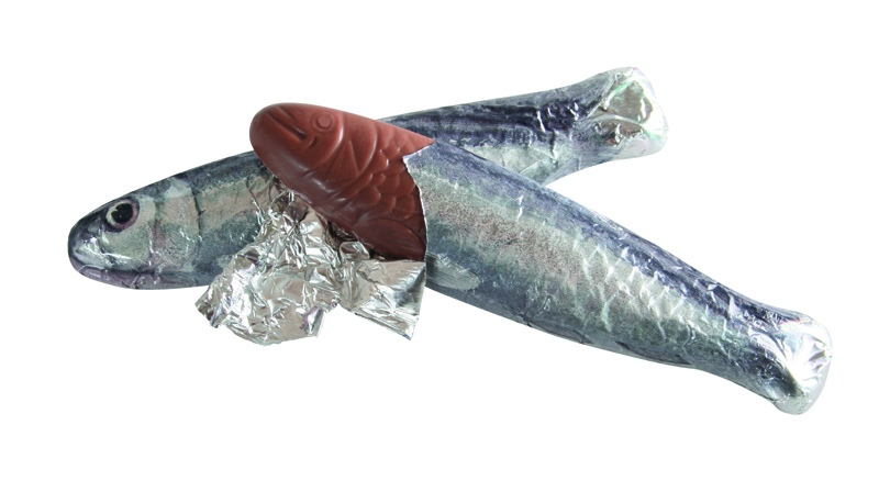 Image result for images of fish made of chocolate in france
