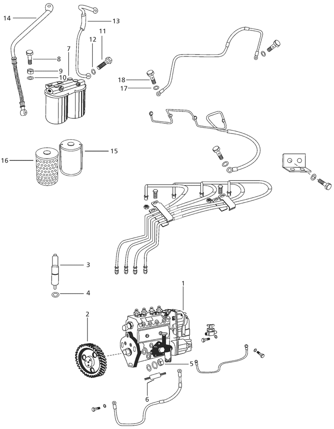 FUEL SYSTEM PARTS FOR 4500 MAHINDRA TRACTOR