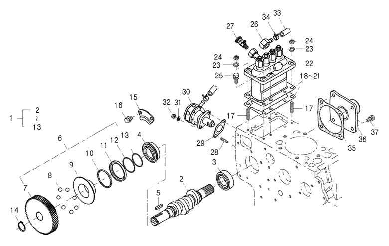 FUEL SYSTEM PARTS FOR THE 4110 MAHINDRA TRACTOR