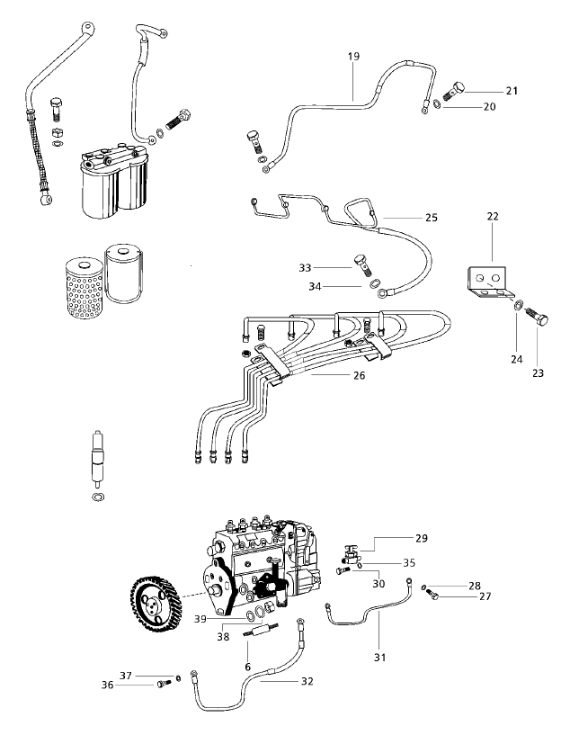 FUEL SYSTEM PARTS FOR 6000 MAHINDRA TRACTOR