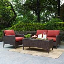 3 Piece Wicker Conversation Patio Sets